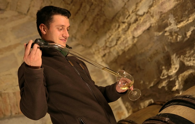 Christophe Briotet in cellars - resize