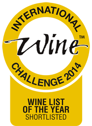 Shortlisted for Wine List of the Year